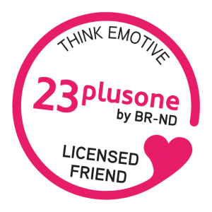 logo_23plusone licensed friend 50 mm x 50 mm